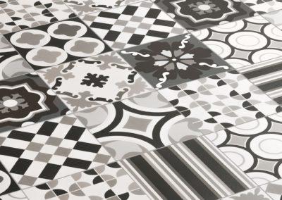 Patchwork noir & blanc